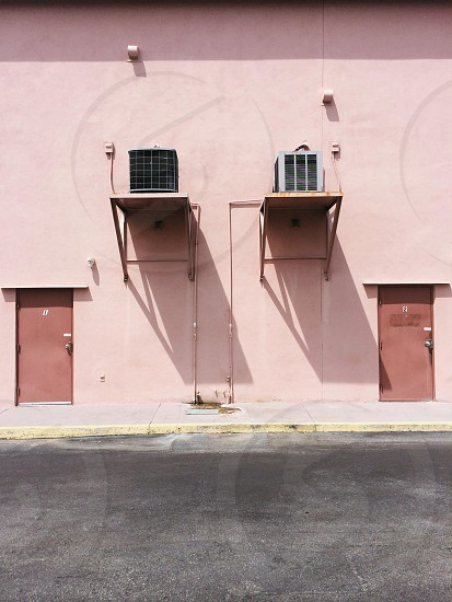 brown steel door closed photo