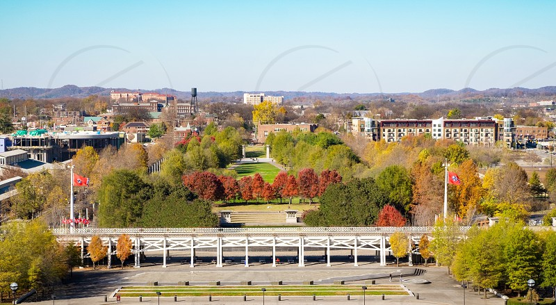 Bicentennial Capitol Mall State Park in Nashville Tennessee USA. photo
