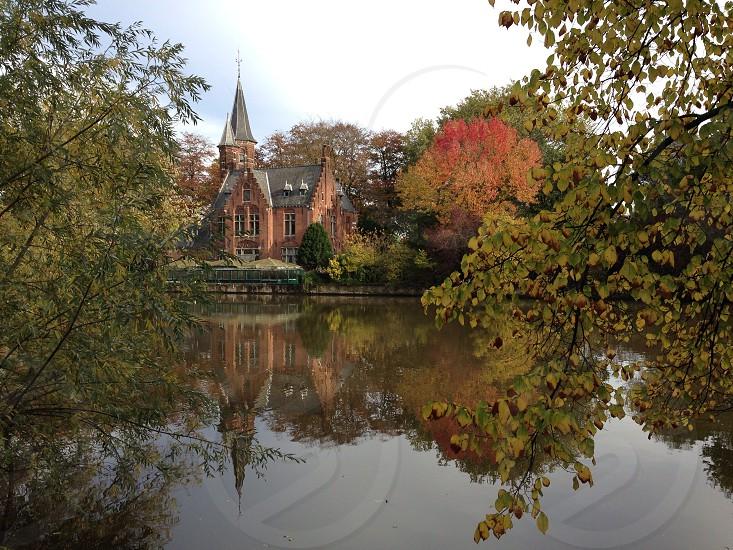 City nature Belgium Brugge photo