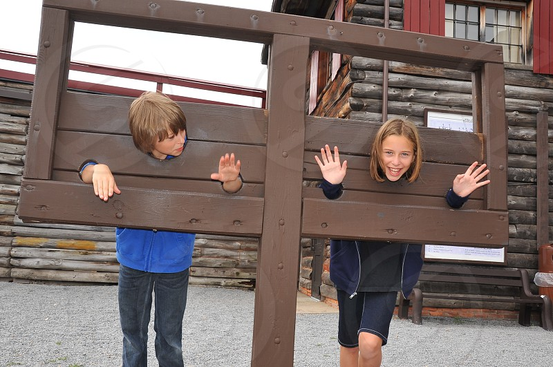 Kids at Historic Fort photo