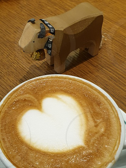 cappuccino at the bar photo