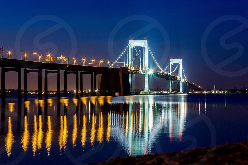 lighted san francisco bridge during night time photo
