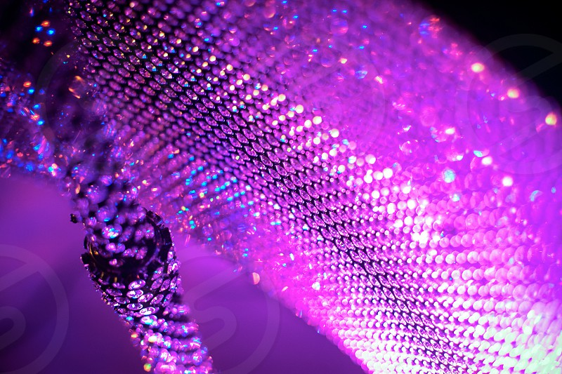 Abstract detail closeup macro wedding celebration music party bejeweled instrument diamonds bling pink purple stones piano microphone stand violet fuscia musician band photo
