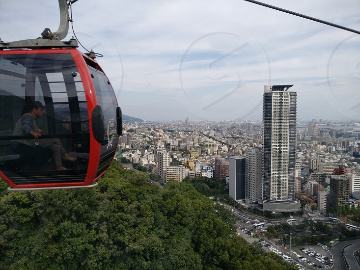View of Kobe Japan from a cable car. photo