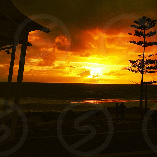Western Australian sunset Scarborough beach Perth photo