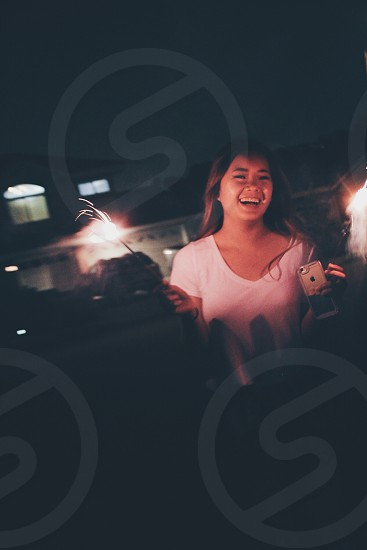 Fireworks happiness cheer new year new year laughter photography photo