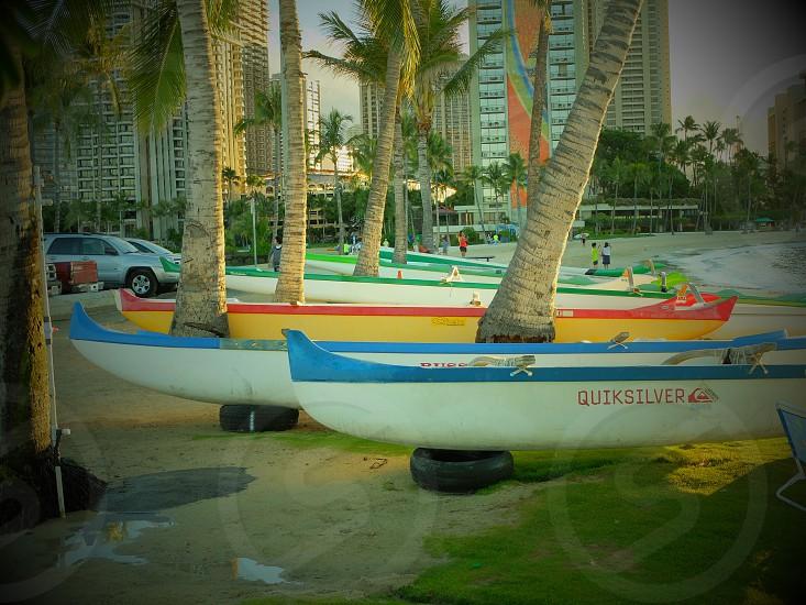 Hawaii Waikiki beach vacation island photo