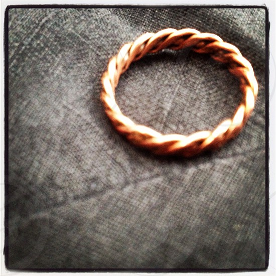 Copper ring  photo