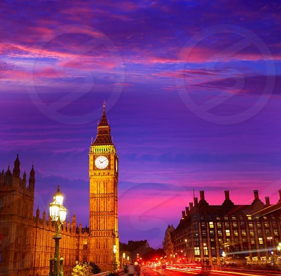 Big Ben Clock Tower in London England photo