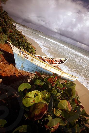 the Coast at the beach in the town of El Cardon on the Isla Margarita in the caribbean sea of Venezuela. photo