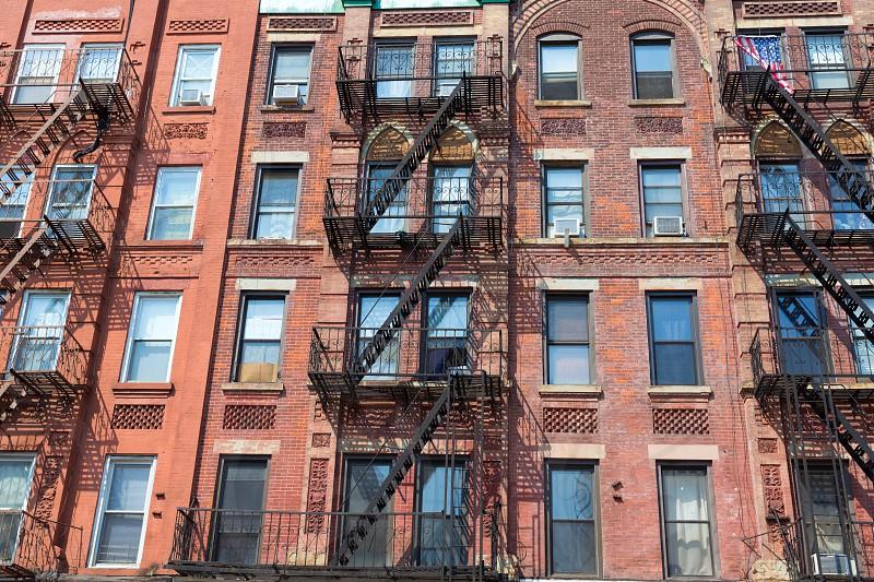 Brooklyn brickwall facades in New York US USA photo