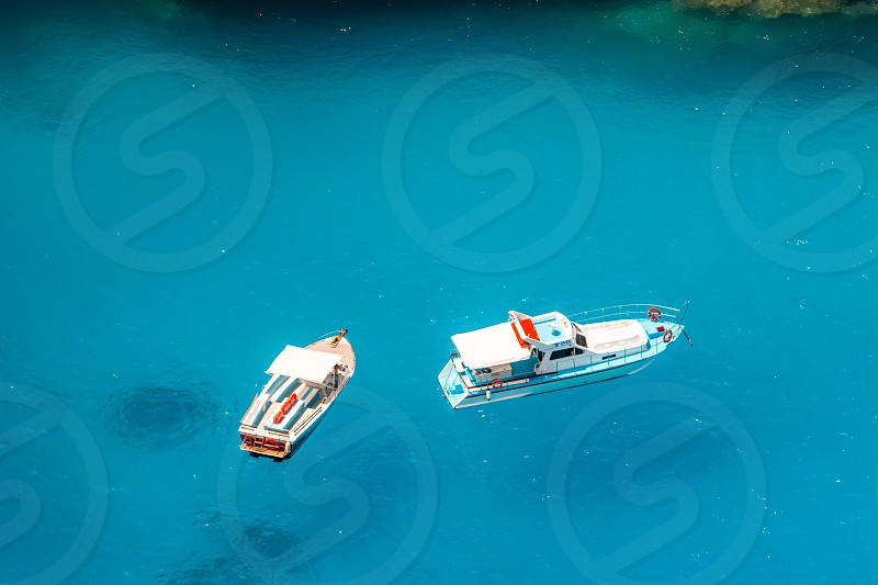Boats On Blue Sea photo