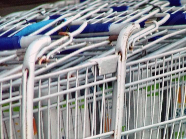 close up shopping carts.  photo