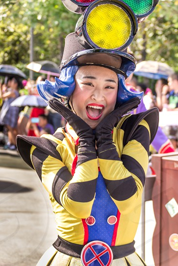 Dressed up characters in the Shanghai Disneyland photo