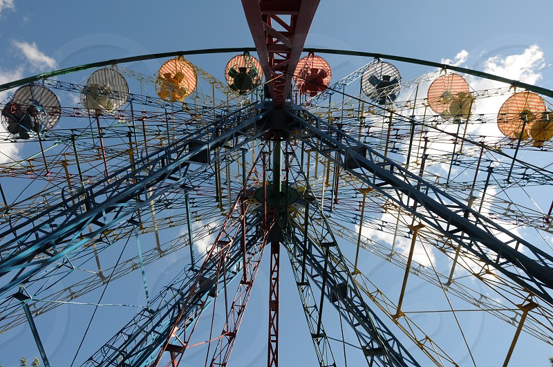 lower angle view of ferris wheel photo