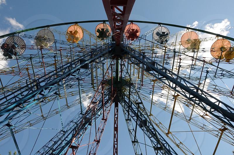 lower angle view of ferris wheel photo