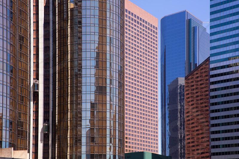 Downtown LA Los Angeles skyline California cityscape photo