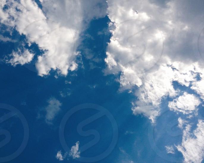sky blue light sun clouds  photo