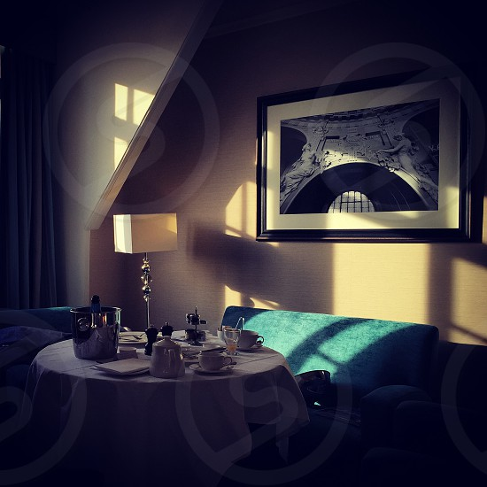 Room service hotel in York sunlight captured lovely.  photo