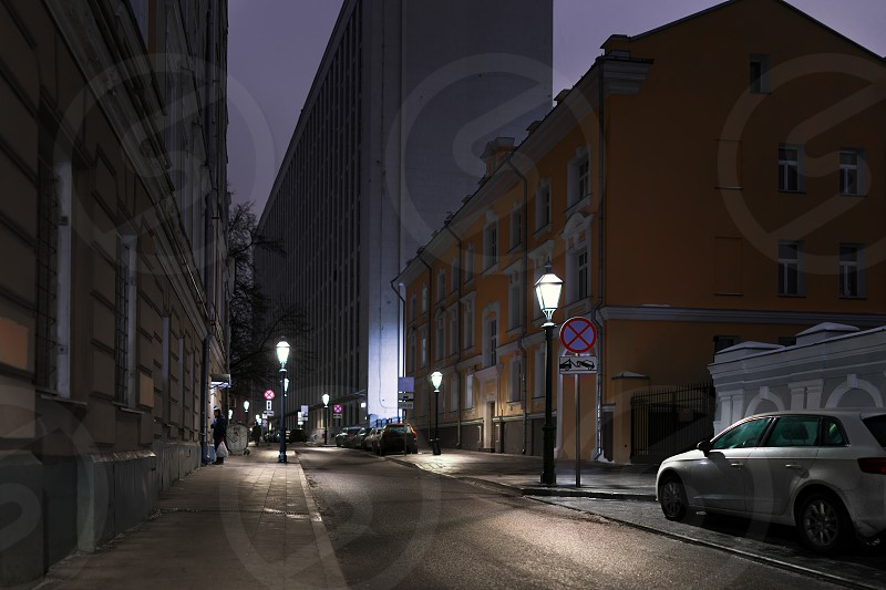 Night Moscow photo