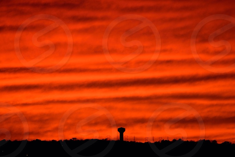 A truly stunning sunset in Topeka KS on 11/4/14. photo