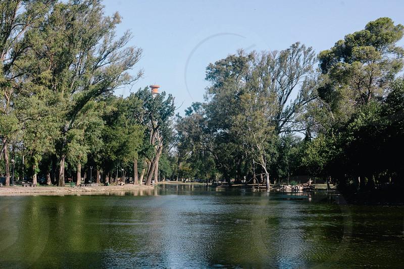 argentina park lake cordoba landscape photo