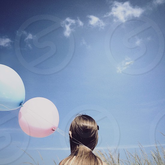"""""""Whispers of The Invisible"""" (young girl with balloons) photo"""