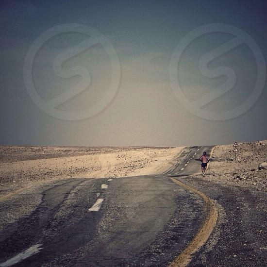 windy road  photo