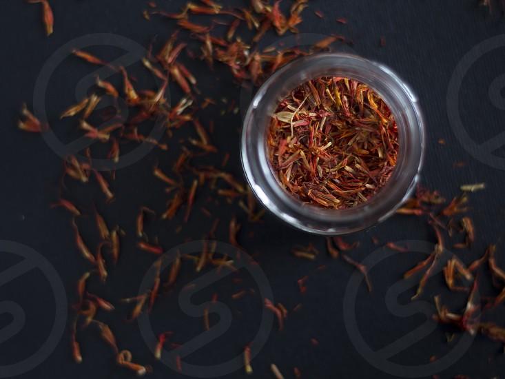 Saffron red Spice jar herb  photo