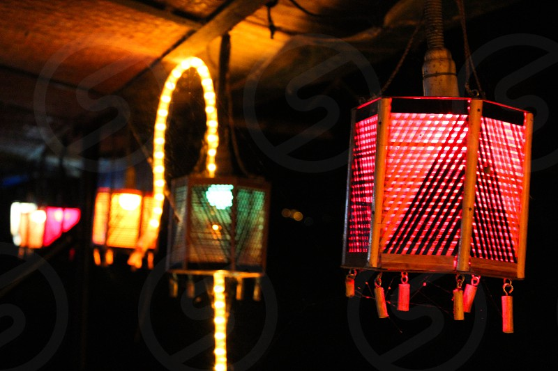 Christmas string of lanterns lights lanterns lantern light Christmas India handmade photo