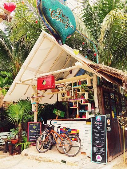 Cafe in Tulum Mexico jungle  photo