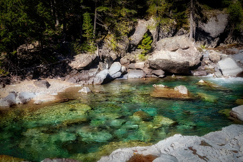 McDonald Creek in Glacier National Park photo