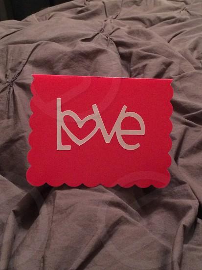 love valentine's day card photo