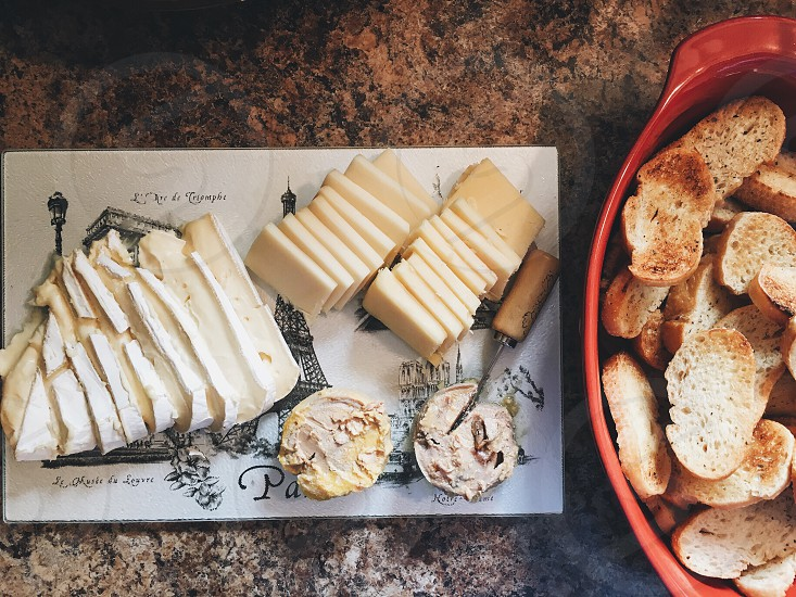 Food cheese France Brie foie gras  photo
