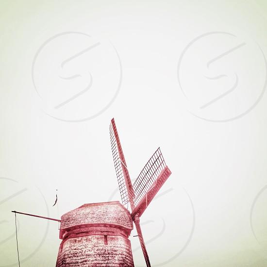 brown wind mill photo