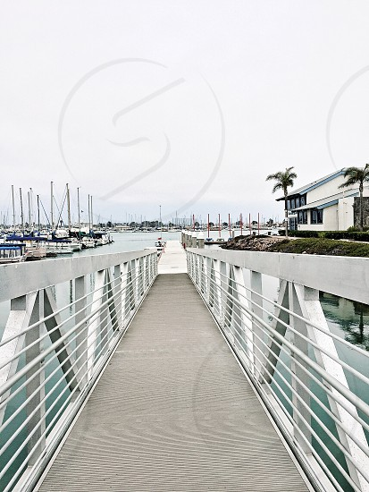 clear pathway at the harbor photo