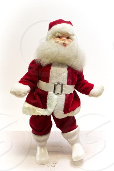 Viintage Christmas Santa looks like he's Dancing photo