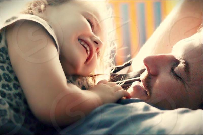 Love father daughtersmilerelaxing photo