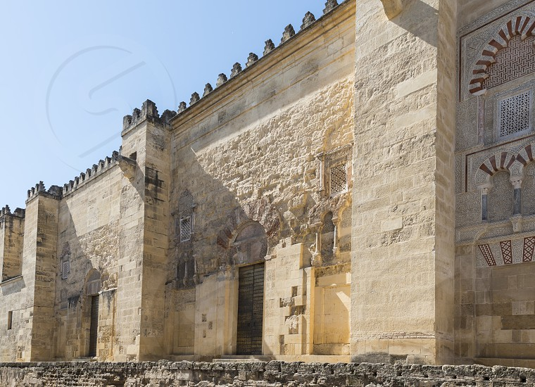 entrance of  the mezquita mosque in cordoba photo