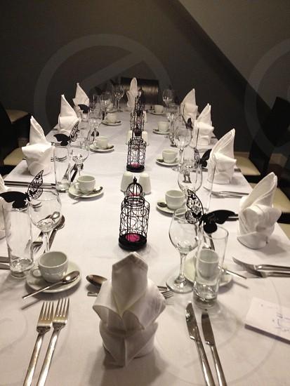 Table setting restaurant dinner photo