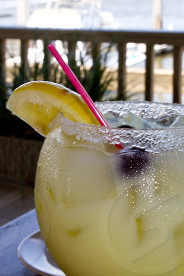 summer cocktail lemon blueberry photo