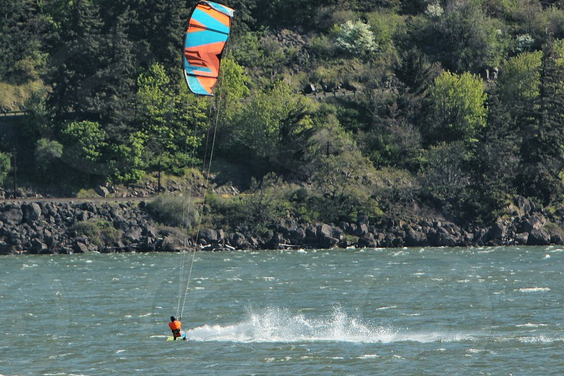 Surfing Kitesurfing windsurfing Columbia River Gorge Hood River photo