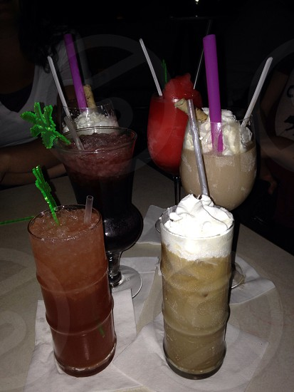 Tropical drinks photo