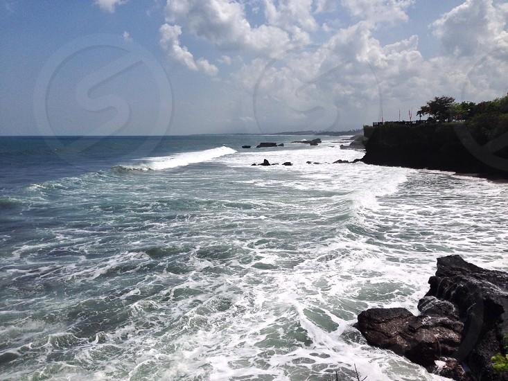 Wave in Tanah lot Bali. photo