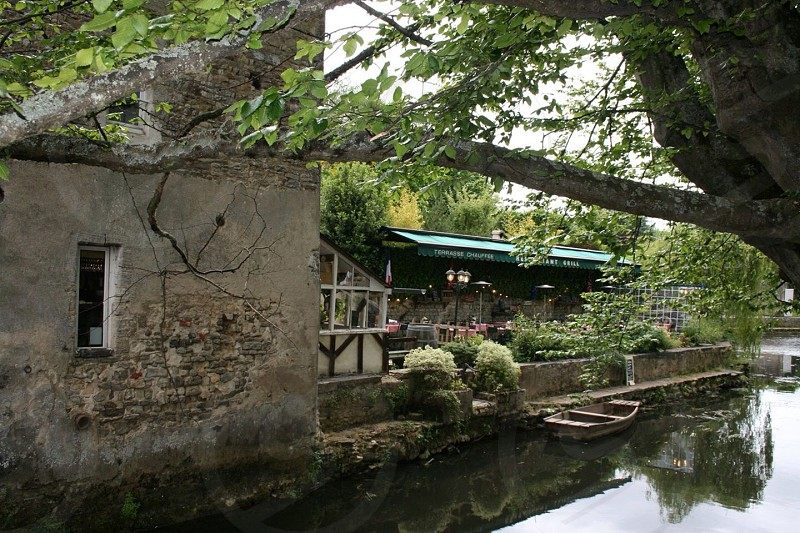 Waterside cafe Bayeux France photo