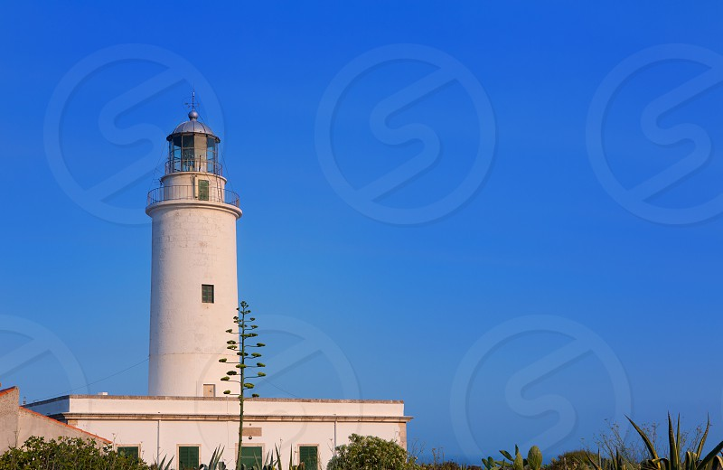 Formentera La Mola lighthouse near Ibiza at Balearic islands photo