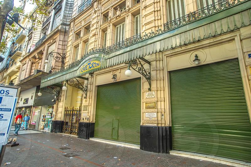 Café tortoni on avenida de mayo. photo