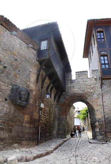 A street in The Old town in Plovdiv European Capital of Culture for 2019 photo
