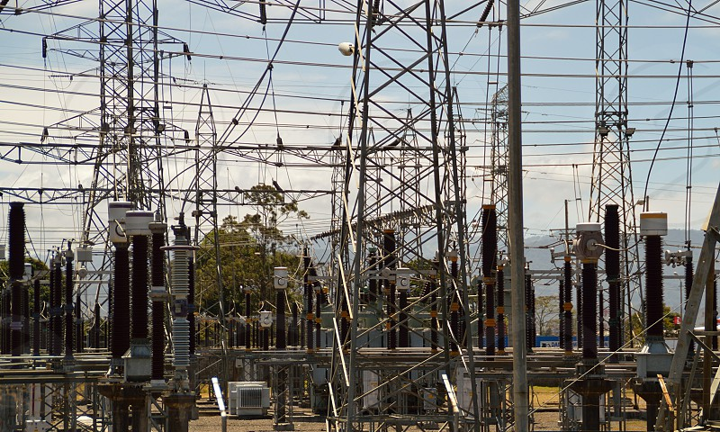 Electricity distribution center in Costa Rica photo
