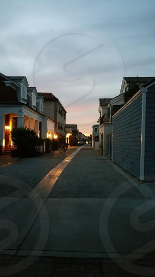 luminescent Newport alley photo